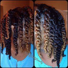 #ShareIG My @kinkycurlyyaki afro kinky curly hair a month later. Tonight's twists May keep these up tomorrow #kinkycurlyyaki #sewin #twostrandtwists #ombre #kinkycurly