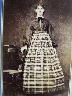 Shirt waist and plaid skirt. Found on ebay 1/11