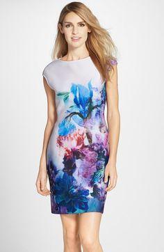 Julia Jordan Floral Print Scuba Sheath Dress available at Nordstrom