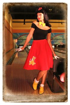 Pluto Poodle Skirt - Geek inspired poodle skirts #halloween Could be great for Dapper Day maybe too.  Ridiculous adorable!