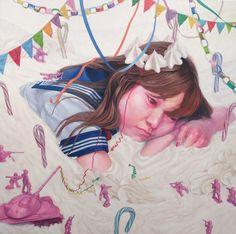 party  2014 acrylic,oil on canvas 162×162cm  Kzuhiro Hori