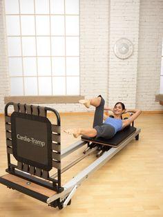 Single Leg Stretch on the Jumpboard or Cardio-Tramp™ Rebounder