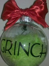 Grinch Ornament - Maybe stuffed with the same green stuff but with something different on the outside.