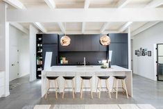 Edgemont Bungalow by Hasler Homes « HomeAdore Latest Kitchen Designs, Beautiful Kitchen Designs, Modern Kitchen Design, Beautiful Kitchens, Minimalist Home Decor, Home Renovation, Interior Design Living Room, Designer, Bedroom Decor