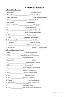 Mixed tenses - English ESL Worksheets for distance learning and physical classrooms English Grammar For Kids, Teaching English Grammar, English Grammar Worksheets, Grammar Lessons, Grammar Tenses, Grammar Book, Teaching Spanish, English Vocabulary, Present Perfect Tense Exercises
