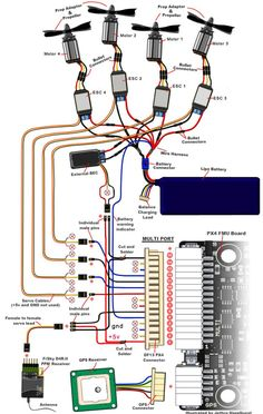 Wiring Diagram of the electronic components of the quadcopter