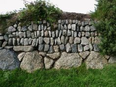 Mine rock Cornish hedge near St Just in Penwith, Cornwall: built with mixed lots of stone from local mines. http://www.cornishhedges.co.uk