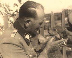 Sepp Dietrich and a furry friend.