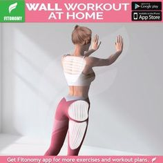 Wall workout at home Workout at home using only your body weight and Fitonomy App. Install it now by clicking the link below Workout at home using only your body weight and Fitonomy App. Install it now by clicking the link below Fitness Workouts, Workout Cardio, Wall Workout, Sport Fitness, Yoga Fitness, At Home Workouts, Fitness Tips, Health Fitness, Wall Exercise