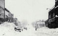 1950 blizzard, 800 block of Wheeling Avenue (Tom Severns photo)
