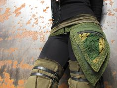 Pixie Pockets  One size Fae belt in Green by manakahandmade, £25.00
