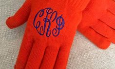 Groupon - One, Two, or Four Pairs of Monogrammed Gloves from Embellish Accessories and Gifts (Up to 52% Off) in [missing {{location}} value]. Groupon deal price: $18