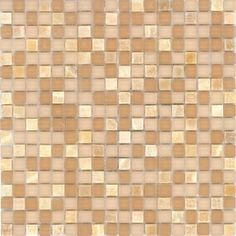 MASTER BATHROOM backsplash idea Elida Ceramica�Butter Stone Glass Mosaic Square Indoor/Outdoor Wall Tile (Common: 12-in x 12-in; Actual: 11.75-in x 11.75-in)