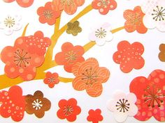 Plum Blossom Stickers Japanese Happy New Year by FromJapanWithLove, $5.75
