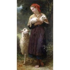 De herderin - William-Adolphe Bouguereau