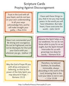 Feeling Discouraged? 6 Scriptures to Pray Through - Coffee For the Soul