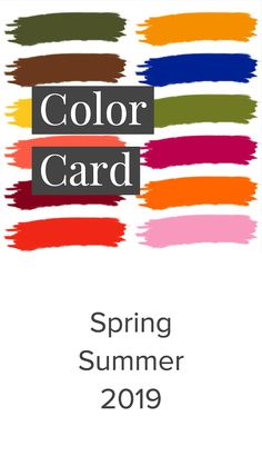 Spring Summer Color Card 2019 Source by Trendbubbles Spring Summer Trends, Spring Fashion Trends, Women's Summer Fashion, Fashion 2018, Fashion Ideas, Summer Fashions, Fashion Hacks, Fashion Fashion, High Fashion