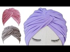 Turban Hat Pattern - Turban Hat with Bow Turban Hut, Mode Turban, Baby Turban Headband, Turban Hijab, Diy Baby Headbands, Boho Headband, Hat Patterns To Sew, Sewing Patterns, Turban Tutorial