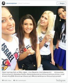 La foto fue tomada el 11 de enero por Doron Matalon. Foto: Instagram selfie tomada en Miss Universo causa polémica en Israel y en el Líbano