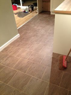 Polyflor Colonia Quarried Millstone with a Pearl Grout Strip Luxury Vinyl Tile Flooring, Grout, Kitchen Flooring, Pearl, Stone, House, Rock, Bead, Home