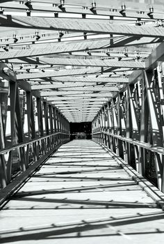Leading Lines.  West haven overpass, Auckland.