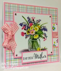 Made for Crafts Beautiful Magazine using Lili Of The Valley Wild Flowers Art Pad. Art Pad, Mother's Day Projects, Die Cut Cards, Mothers Day Cards, Copics, Watercolor Cards, Flower Cards, Making Ideas, I Card