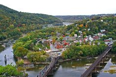 West Virginia, Harpers Ferry, West Virginia view from Maryland.