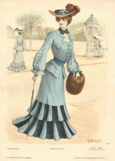 Fashion plate, 1903. France