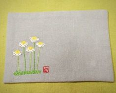Nice for book cover Embroidery Sampler, Embroidery Bags, Embroidery Flowers Pattern, Embroidery Works, Simple Embroidery, Embroidery Jewelry, Flower Patterns, Embroidery Stitches, Embroidery Designs