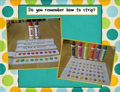 Pattern strip books: This google doc includes ab, aab, abb, aaabb & abc patterns for children to color using dot markers (or anything else) and label. This would make a great go-to math center.  Teach the first one (ab) in small group, then you have four more possible booklets to make in centers throughout the year.  I like it!