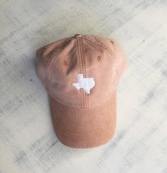 State of Texas monogrammed hat. Perfect Longhorns gameday colors