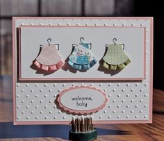 little dresses punch art - SU owl punch and pleated ribbon - bjl