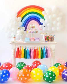 Over the Rainbow Birthday Party for Kids Colorful Birthday Party Colorful Birthday Party, Girl Birthday Themes, Carnival Birthday Parties, Gender Reveal Party Decorations, Kids Party Decorations, Kid Party Favors, My Little Pony Decorations, Little Pony Party, Rainbow Theme