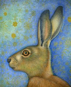 Hare portrait (print)