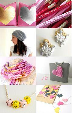 Valentine Silver, Gold, Pink by Celeste - Crickets on Etsy