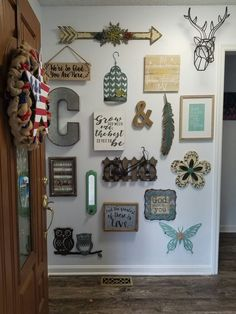 Entryway,  when hobby lobby had metal art 50% off