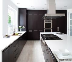 Jack Rosen Custom Kitchens - Black and white modern kitchen