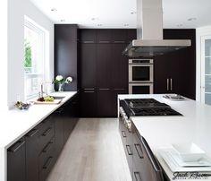 Jack Rosen Custom Kitchens - Black and white modern kitchen