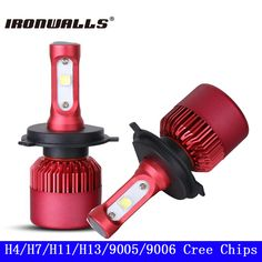 Ironwalls H4 Hi-Lo Beam H7 H11 H13 9005 9006 CREE Chips SMD 80W LED Car Headlight Bulb 9600lm 6500K Auto Headlamp Fog Light 12V