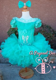 Beautiful Pageant glitz cupcake pageant dress toddler or girl Beauty Pageant Dresses, Pagent Dresses, Little Girl Pageant Dresses, Ball Dresses, Baby Pageant, Pageant Wear, Pageant Girls, Toddlers And Tiaras, Little Princess