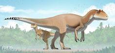 Allosaurus and Infant by FredtheDinosaurman on DeviantArt Prehistoric World, Prehistoric Creatures, Mythological Creatures, Dinosaur Images, Dinosaur Art, Creature Feature, Creature Design, Spinosaurus, Jurassic Park World