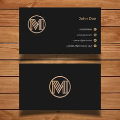 More than a million free vectors, PSD, photos and free icons. Exclusive freebies and all graphic resources that you need for your projects Business Cards Layout, Luxury Business Cards, Black Business Card, Business Card Logo, Business Card Design, Branding Design, Logo Design, Visiting Card Design, Name Card Design