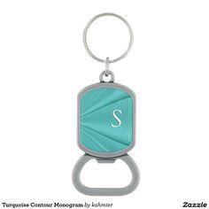 Turquoise Contour Monogram Bottle Opener 30% off
