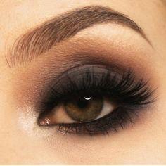 Brown eyed girl. Smoking.