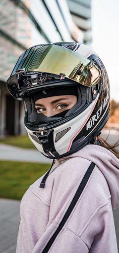 Helmet, Motorcycle, Bike, Hats, Women, Fashion, Bicycle, Moda, Hockey Helmet