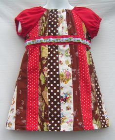 Little Girl Dress...another way to use my fabric scraps maybe?