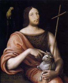 Clouet, Jean (1485/90-1541)  Portrait of Francois I as St John the Baptist