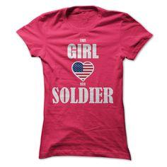 (New Tshirt Deals) This Girl Loves Her Soldier [Teeshirt 2016] Hoodies Tee Shirts