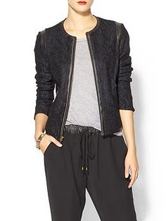 10 Crosby Derek Lam Cardigan Jacket With Leather | Piperlime