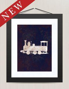 Vintage Classic Train Engine 8 x 10 of Vintage by littleredflag, $15.00